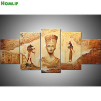 5pcs/set,5d Diy Diamond Painting,Square Rhinestones Cross Stitch,Diamond Embroidery Egyptian goddess diamond mosaic home decor