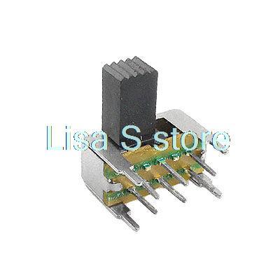 5 шт. x SK22H04-G5/G9 5 мм 9 мм, Боковая ручка с 6 контактами, 2 положения, DPDT 2P2T, горизонтальный скользящий переключатель 0,5a 50 В постоянного тока