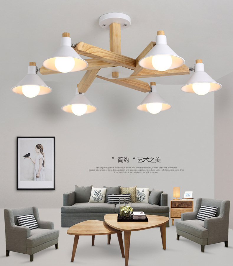 Modern Led Ceiling Lights Fixture With Iron Lampshade Wooden Indoor Lamp For Living Room Bedroom Nordic Metal Lighting LuminaireModern Led Ceiling Lights Fixture With Iron Lampshade Wooden Indoor Lamp For Living Room Bedroom Nordic Metal Lighting Luminaire