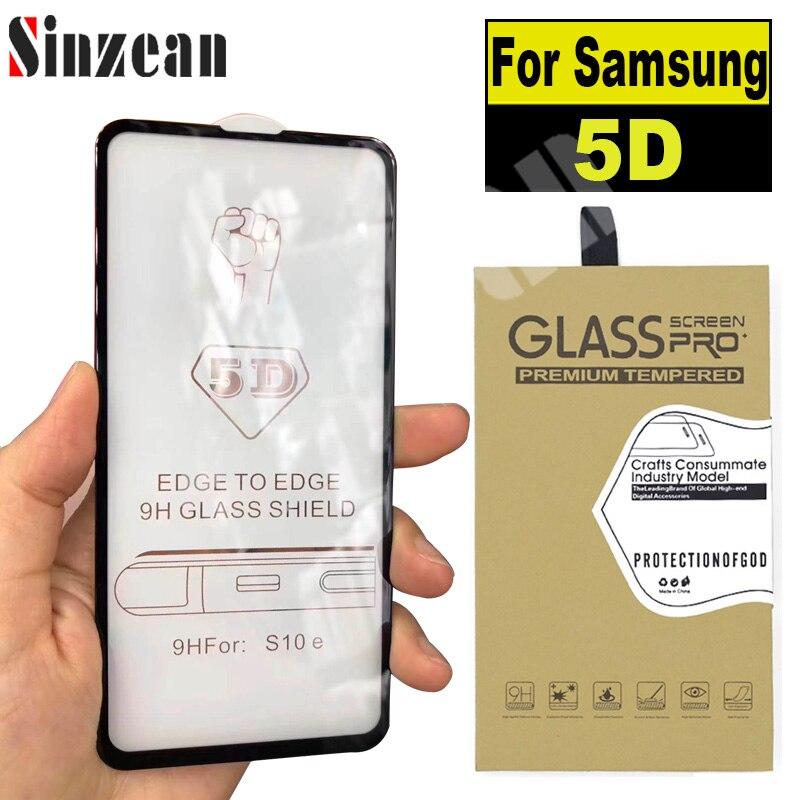 100PCS 5D Full Covered Glass For Samsung A10 A20 A30 A40 A50 A60 A70 A80 A90