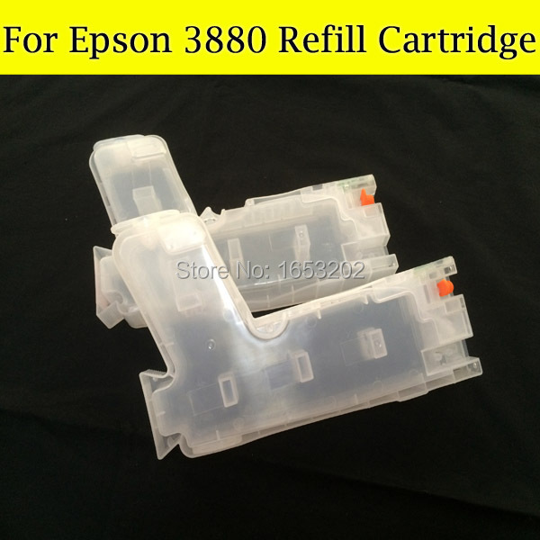 Large format ink cartridges for epson 3880 3880XL T5801T58 T580 580 refillable ink cartridge with 9pcs chip sensor 11color refillable ink cartridge empty 4910 inkjet cartridges for epson 4910 large format printer with arc chips on high quality