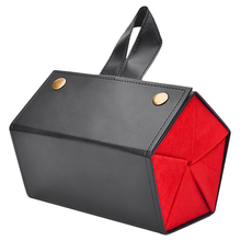 NEW Women 5 Storage Space Sunglasses Tray Black Red Fashion Pu Leather Roll Eyeglasses Case Display Box