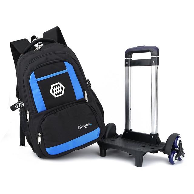 Aliexpress.com : Buy Casual Trolley Backpack Wheels School ...