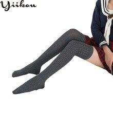 c3a940d9ecd Female Spring and Autumn Japanese Knee Socks Women Twist Stockings Fashion Girls  Cotton School Wind Thin