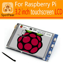 raspberry pi 3.2 inch LCD 320*240 Pixel Resistive Touchscreenl Display 48MHZ smart than raspberry pi 3.5 LCD(China)