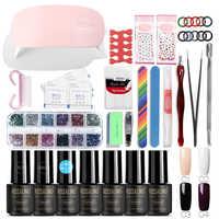 ROSALIND 7 ml Set Für Maniküre Nail art Werkzeuge Cure Maniküre Kit UV Nagel Gel Polnisch Jede 4 farbe Tränken off Nagellack