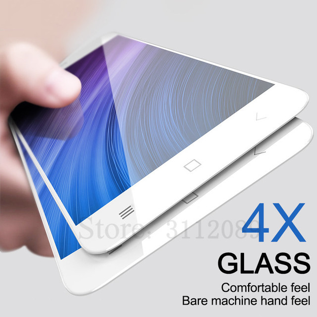 Completa Tela de Proteção de Vidro Temperado Para Xiaomi Redmi Nota 4X Redmi 4X9 H Temperado Filme Protetor Para Redmi Nota 4X vidro