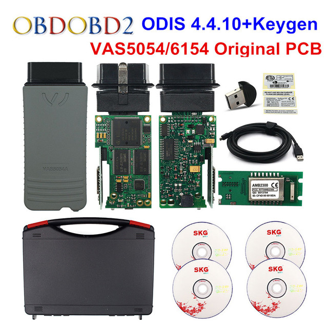 Original VAS5054 OKI Keygen VAS5054A Bluetooth AMB2300 ODIS V4.4.10 For VW/AUDI/SKODA/SEAT VAS 5054A VAS6154 WIFI UDS For VAG