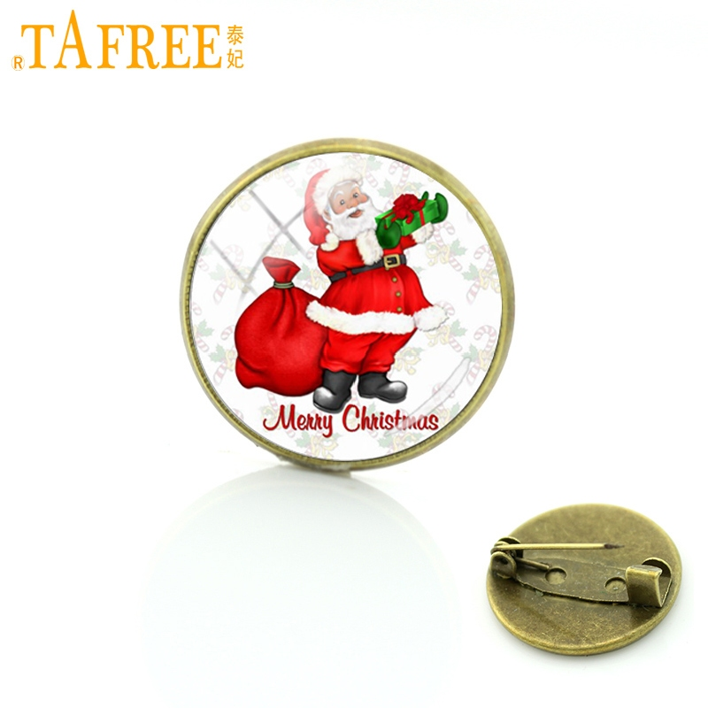 Mery Christmas.Tafree Cute Fat Funny Santa Claus Bronze Brooches Pins Mery Christmas Happy New Year Gifts Badge For Kids Women Men Jewelry J230 In Brooches From