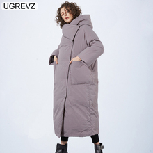 Brands New Winter Collection of Jacket 2019 Stylish Windproof Female Coat 2019 Womens Quilted Coat Jackets Long Warm Parkas Tops cheap UGREVZ Office Lady Single Breasted Wide-waisted Solid ZGH002 Full Polyester spandex COTTON Thick (Winter) Spliced Zippers