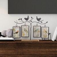 Metal Bird Wedding Photo Photo Frame, Square Bird Photo Frame Children Photo Frame