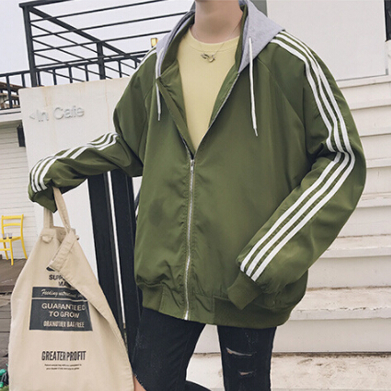 2018 fall winter new arrival zipper coat Korean style casual jacket men hip hop sportswear tracksuits youth long sleeve clothes