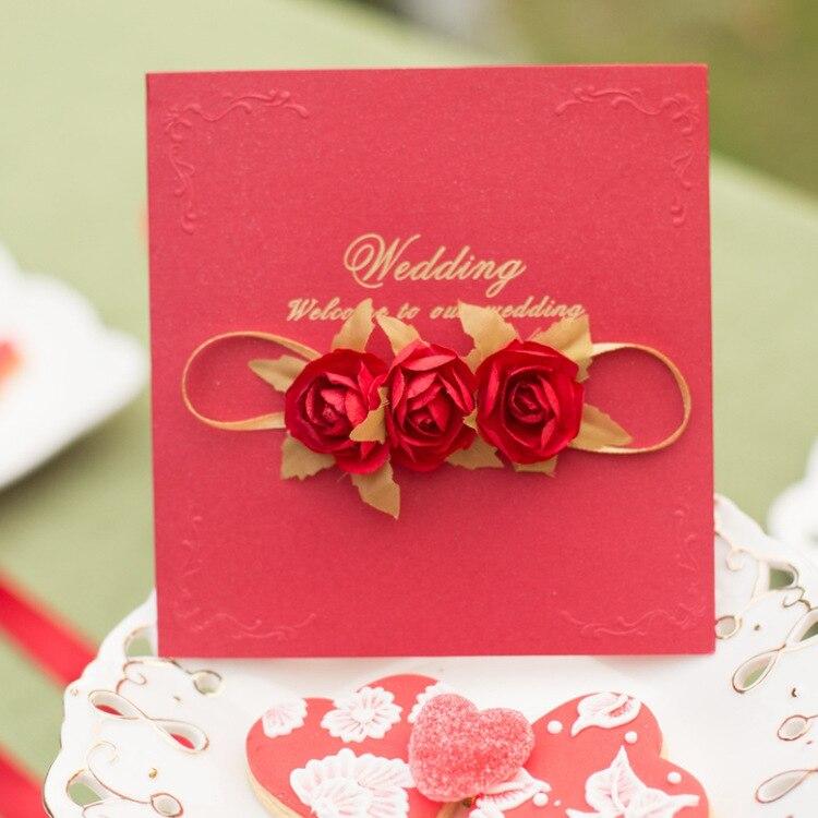 Populair Merk 10 Stuks Zoete Dag Creatieve Huwelijksuitnodiging Pure Europese Huwelijksuitnodiging Uitstekende Kwaliteit