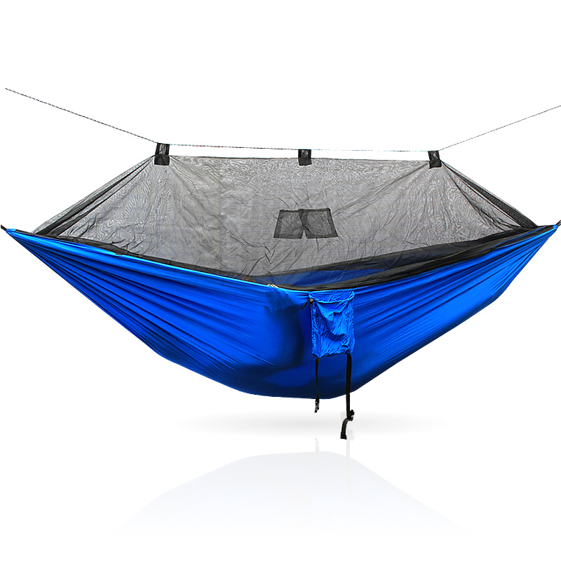 Image 5 - Portable 300 * 140 260 * 140 cm size garden swing, camping bed, anti mosquito hammock. There are various colors to choose from-in Hammocks from Furniture