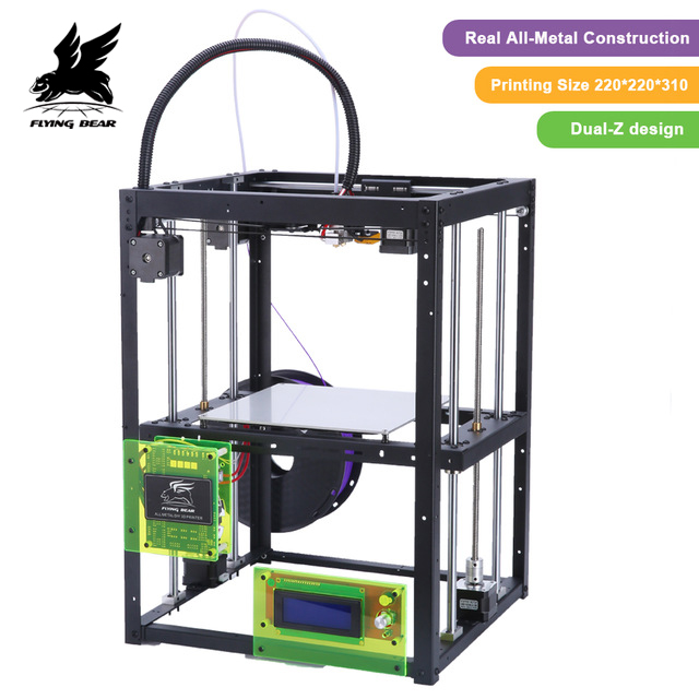 2018 Newest Flyingbear P905H DIY 3d Printer kit Full metal Large printing size High Quality Precision Makerbot Structure Gift original ijoy captain pd270 box mod e cigarette vape 234w ni ti ss tc vapor power by dual 20700 battery new colors