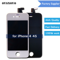 OVSNOVO Replacement For IPhone 4 4G 4S LCD Display LCD Digitizer Touch Screen Assembly No Dead
