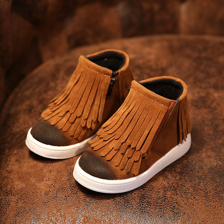 New 2017 Winter Children Shoes PU Leather Snow Boots kids Warm Boys Warm Boots Girl Platform Shoes Size 21-36