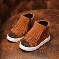 Novo 2016 Crianças Inverno Sapatos de Couro PU Botas De Neve crianças Quentes Meninos Botas Quentes Plataforma Menina Sapatos Tamanho 21-36