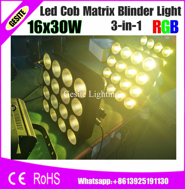 16 Heads Led Matrix Light 16x30W RGB 3IN1 Tri Color COB DMX Led Matrix Bliner Stage Light Wash Effect Club