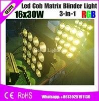 16 Heads Led Matrix Light 16x30W RGB 3IN1 Tri Color COB DMX Led Matrix Bliner Stage Light Wash Effect Club