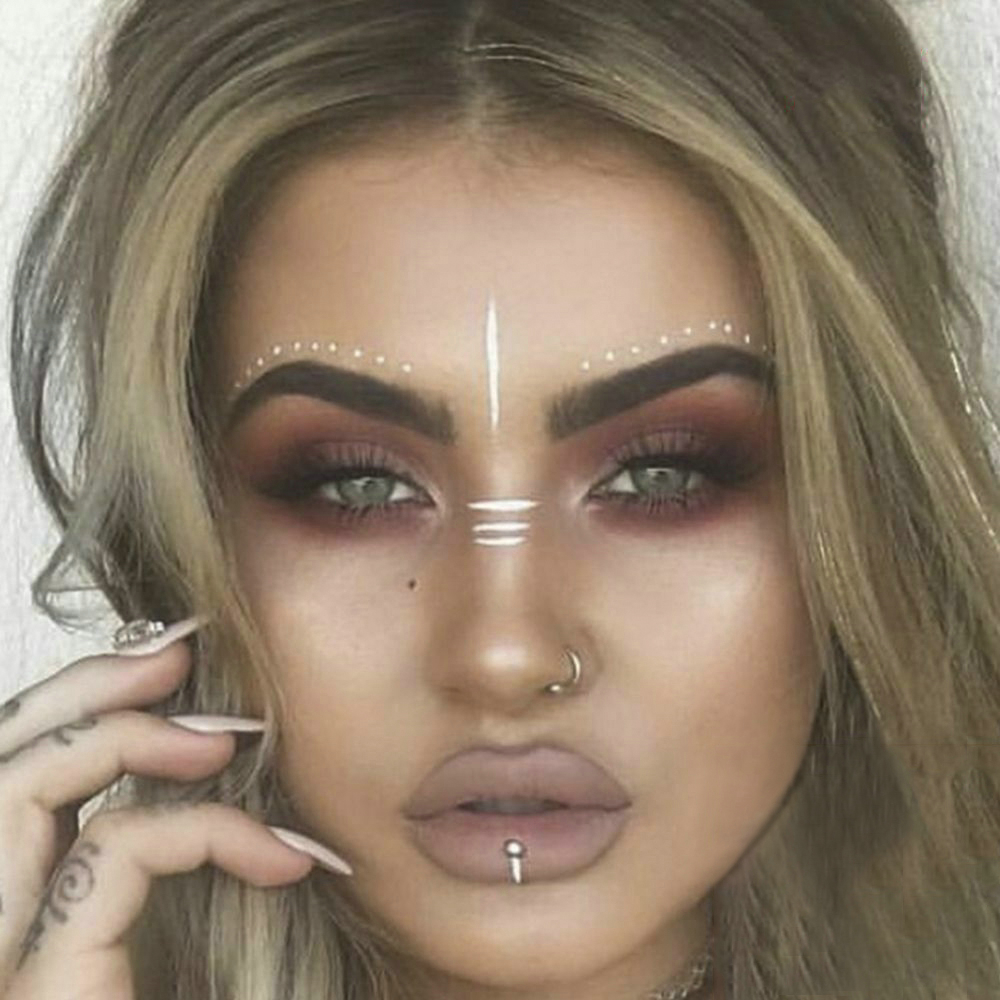 2019 New Gold Face Temporary Tattoo Waterproof Blocked Freckles Makeup Stickers Eye Decal Wholesale 5