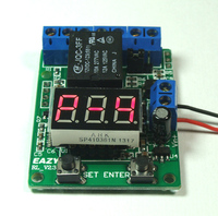 Multifunktions 12 V zeittafel timer/zähler/countdown trigger/voltmeter erkennung control