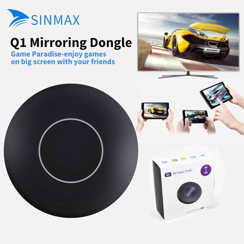 Auto Car Media DLNA Miracast Airplay Screen Mirroring TV Stick Digital Wireless HDMI AV RCA Output Video Streamer Display Dongle