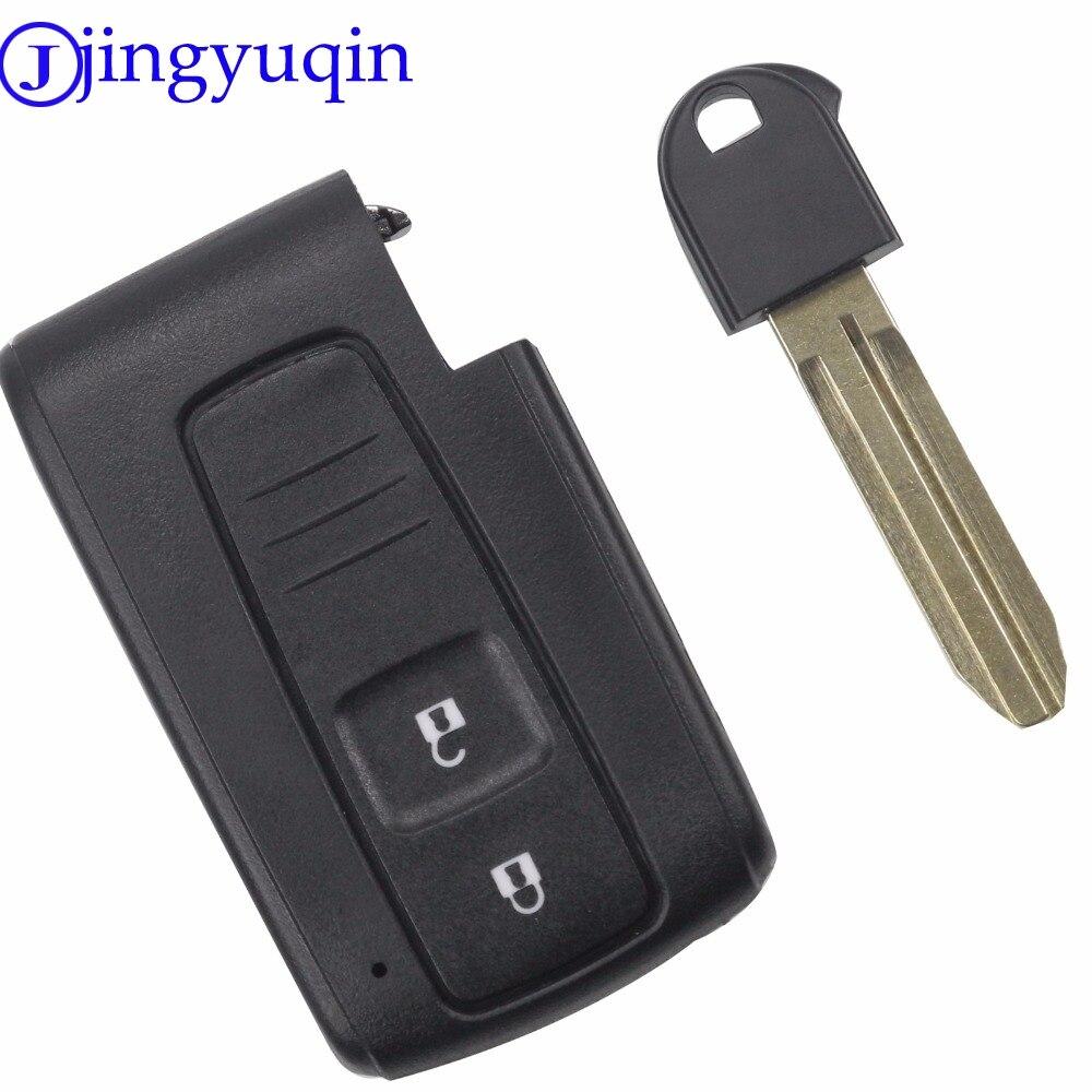 Jingyuqin Bonne Qualité 2 Boutons À Distance Intelligent De Voiture Key Case Cover Pour Toyota Prius Corolla Verso Toy43 Uncut Lame