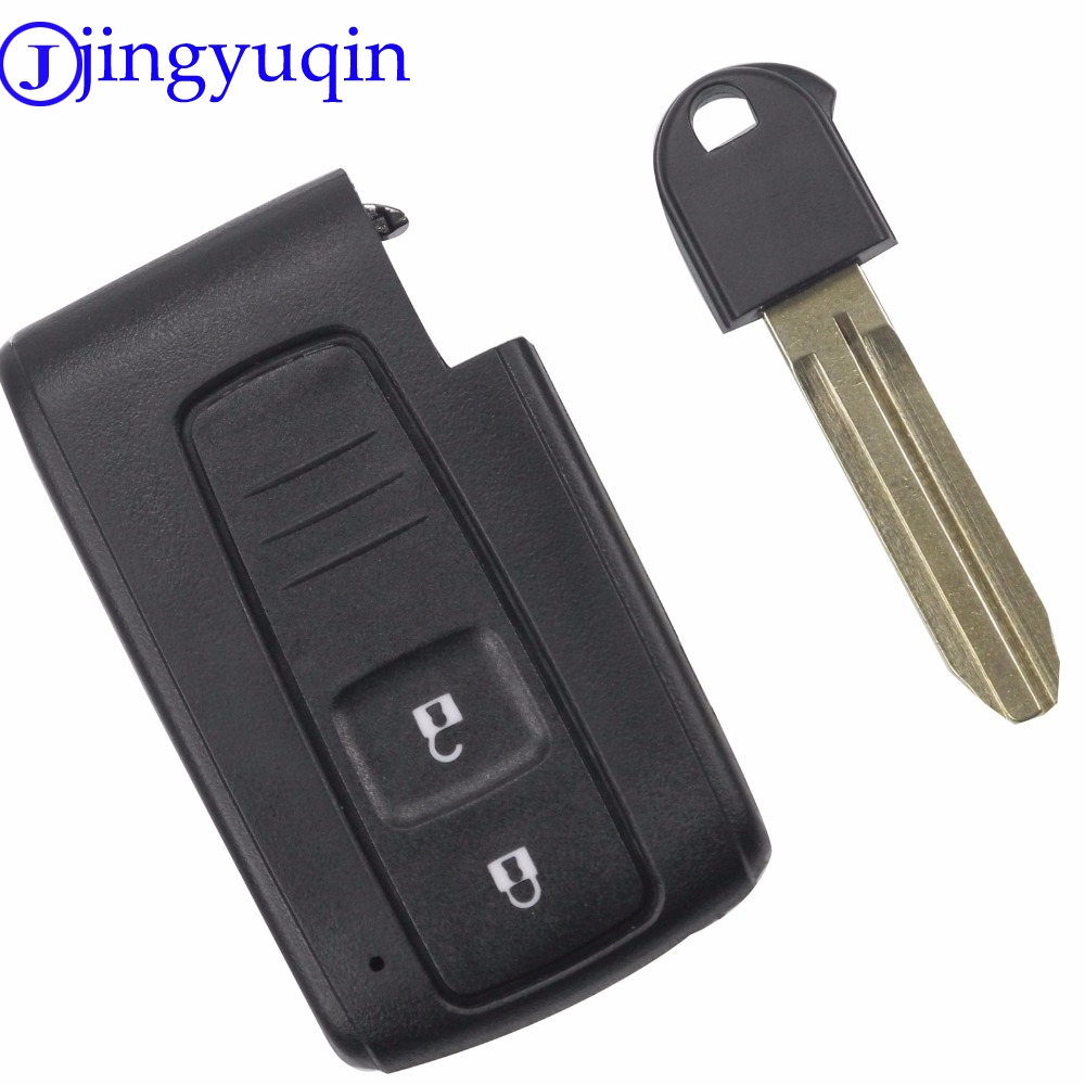 Jingyuqin Gute Qualität 2 Tasten Fernbedienung Smart Autoschlüssel Fall Abdeckung Für Toyota Prius Corolla Verso Toy43 Ungeschnittenes blatt