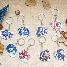 8pcs/set Anime Keychain Wang Jian Adornment Chinese Tang Dynasty KongFu Keychain De Llaveros Portachiavi Keyrings Pendant