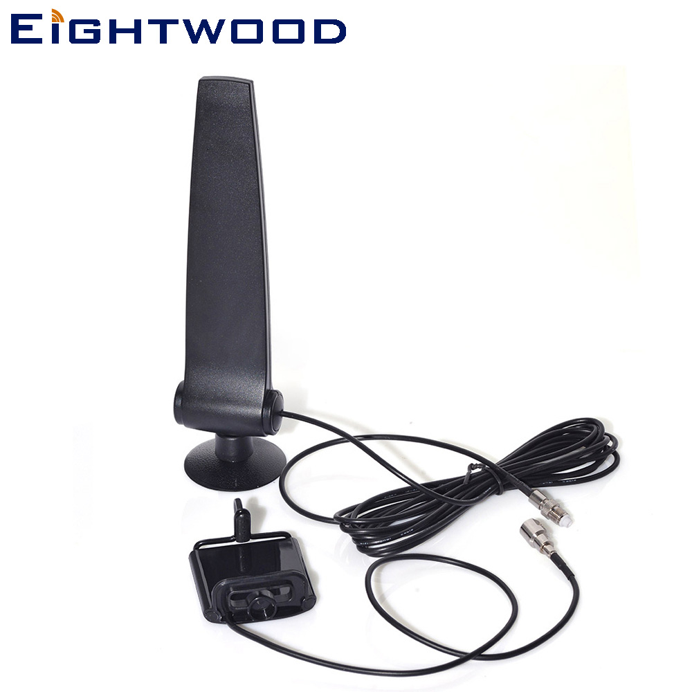 Eightwood GSM CDMA 3G 4G LTE Cellphone Signal Booster Amplifier Antenna +Phone Holder 120cm RG174 Cable FME Female Connector gsm 3g repeater dual band gsm 900 mhz 2100 mhz w cdma umts repetidor 3g antenna signal amplifier 2g 3g cell phone booster sets