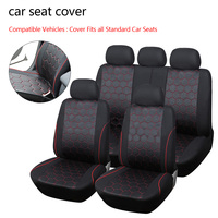 Dewtreetali Universal Car Seat Covers Soccer Ball Style Jacquard Fabric Fit Most Brand Vehicle Interior Accessories