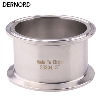 "Accesorio de tubería DERNORD 3 ""tri-clamp, férula O/D de 91mm, acero inoxidable sanitario 304"