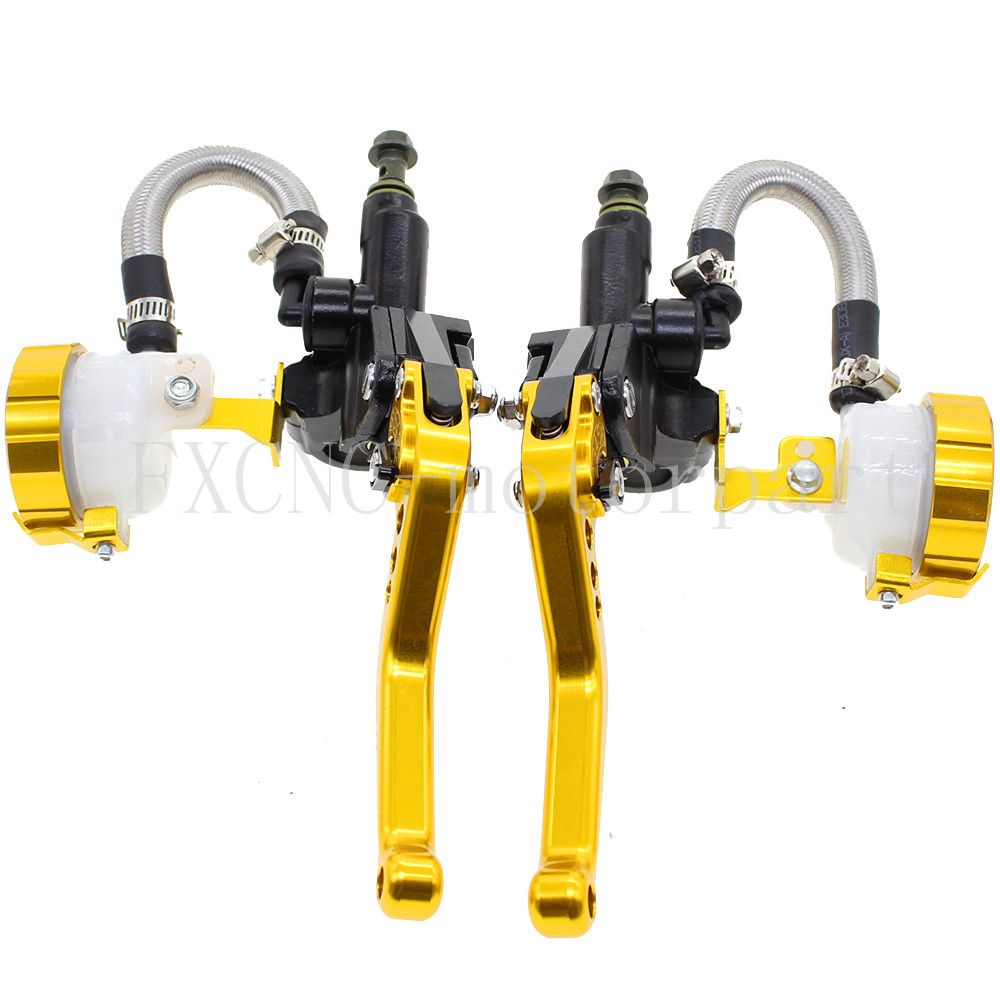 FXCNC 7/8 Motorbike Brake Levers Master Cylinder Hydraulic Brake Clutch Lever Fit For 125-600cc Motorcycles Parts free shipping motor bicycle autobike motorbike brake motorcycle brake clutch levers hydraulic clutch lever 120cm yellow