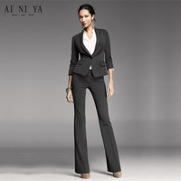 bfa0a419f97a7 Women Pant Suits Black White Stripes Office Uniform Two Piece Ladies  Business Suits Female Formal Work. US $106.00 US $97.52. Kadın Pantolon Takım  Elbise ...