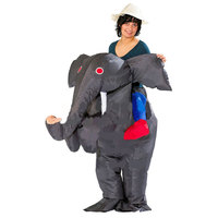 Funny Adults Inflatable Riding On Elephant Costumes Unisex Fancy Dress Bar Club Party Purim Halloween Airblown