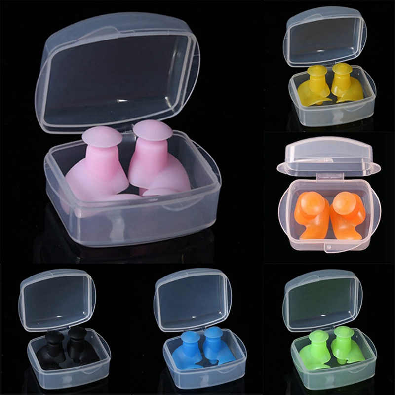 1 Pair Soft Ear Plugs Environmental Silicone Waterproof Dust-Proof Earplugs Diving Water Sports Swimming Accessories1 Pair Soft Ear Plugs Environmental Silicone Waterproof Dust-Proof Earplugs Diving Water Sports Swimming Accessories