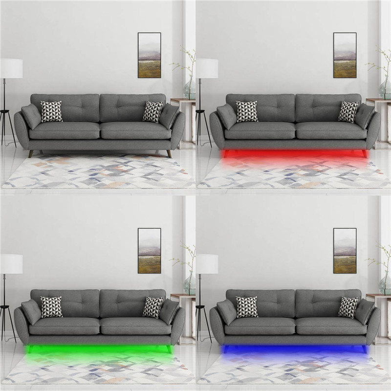 AIBOO Sofa Couch Bed Lights RGB LED Strips Illumination With Wireless RF  Remote Control, Entrance, Closet, Staircase Lighting In LED Strips From  Lights ...