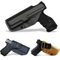 BBF Make fabrique un étui de pistolet KYDEX tissé en Fiber de carbone IWB pour: Glock 19 23 25 32 Cz p10c étui de pistolet dissi