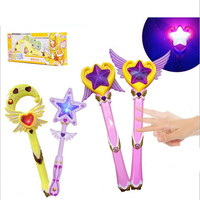 CXZYKING Music Magic Fairy Wand Magic Sticks Luminous Toy Set Christmas Party Costume Supplies Kids Toy