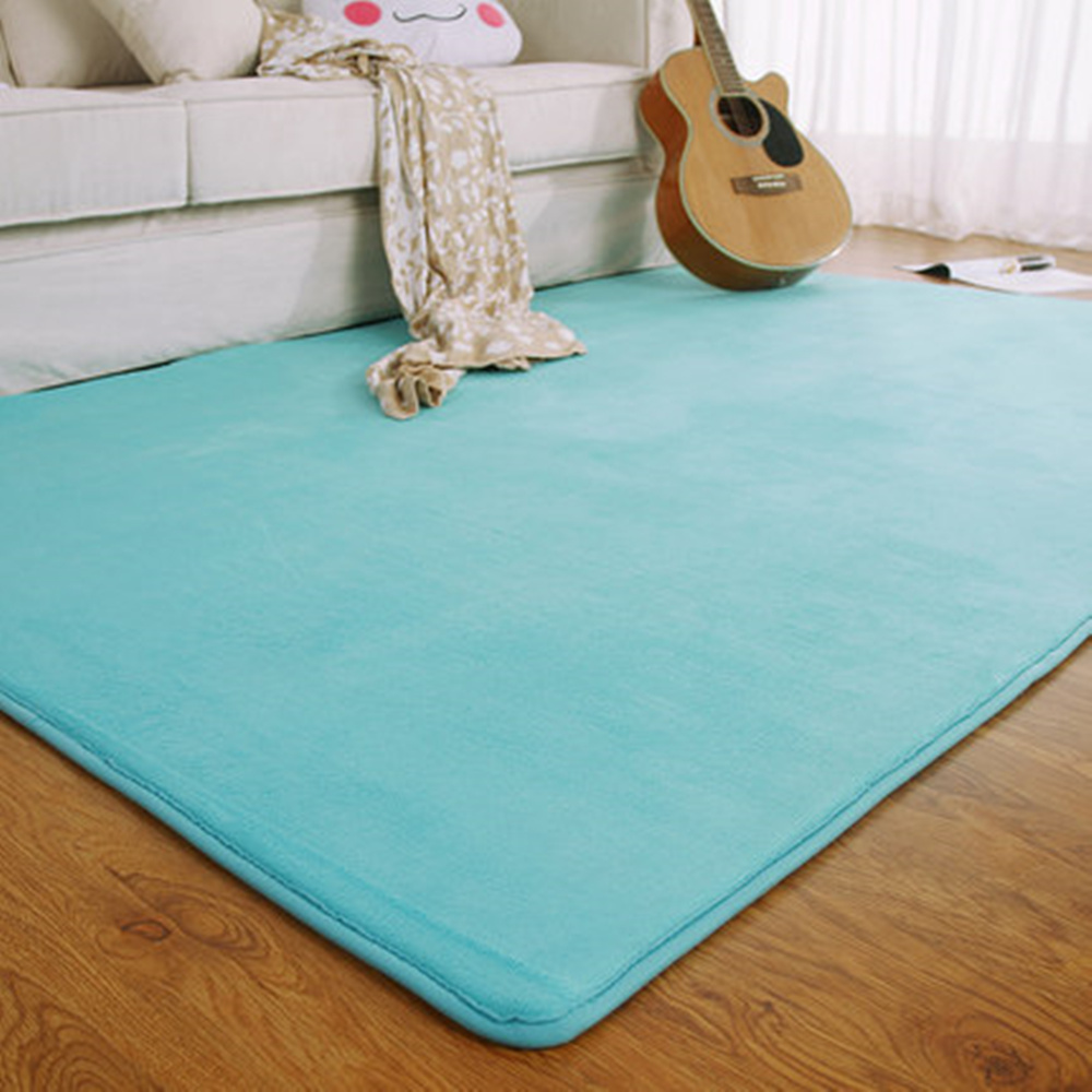 Adasmile fashion memory foam solid mat area rug bedroom for Bedroom rugs