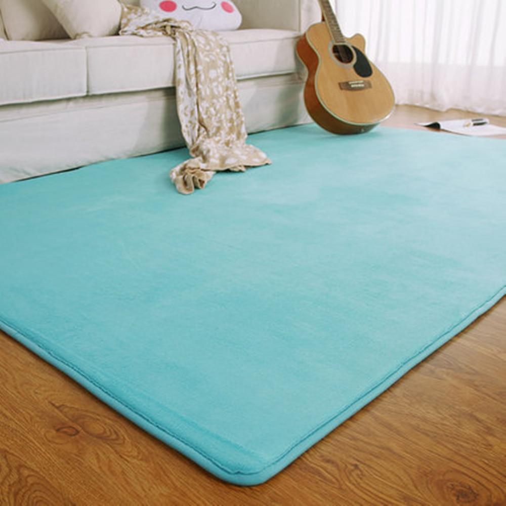 Adasmile Fashion Memory Foam Solid Mat Area rug Bedroom ...