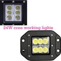 24 Watt Spot Lampe für Motorrad Traktor Lkw-anhänger Weg Von treibendem Fahrzeug 2 stücke LED Arbeitslicht heißer verkauf