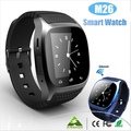 Горячий Спорта Bluetooth Умный Телефон Вахты Цифровой Smartwatch M26 Часы Для Андроид Xiaomi Черный/Белый/Синий Pk GT & 08 DZ09