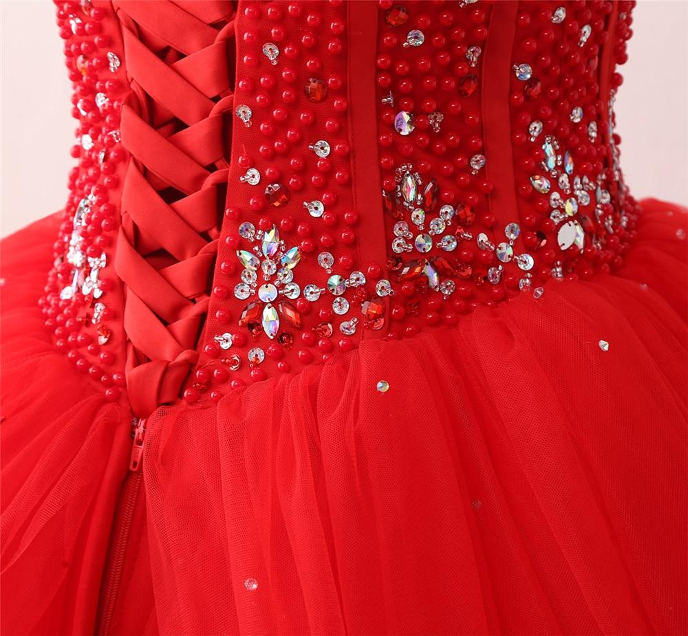 Bealegantom Nye Spaghetti Strap Røde Quinceanera Kjoler 2018 Ball - Særlige occasion kjoler - Foto 6