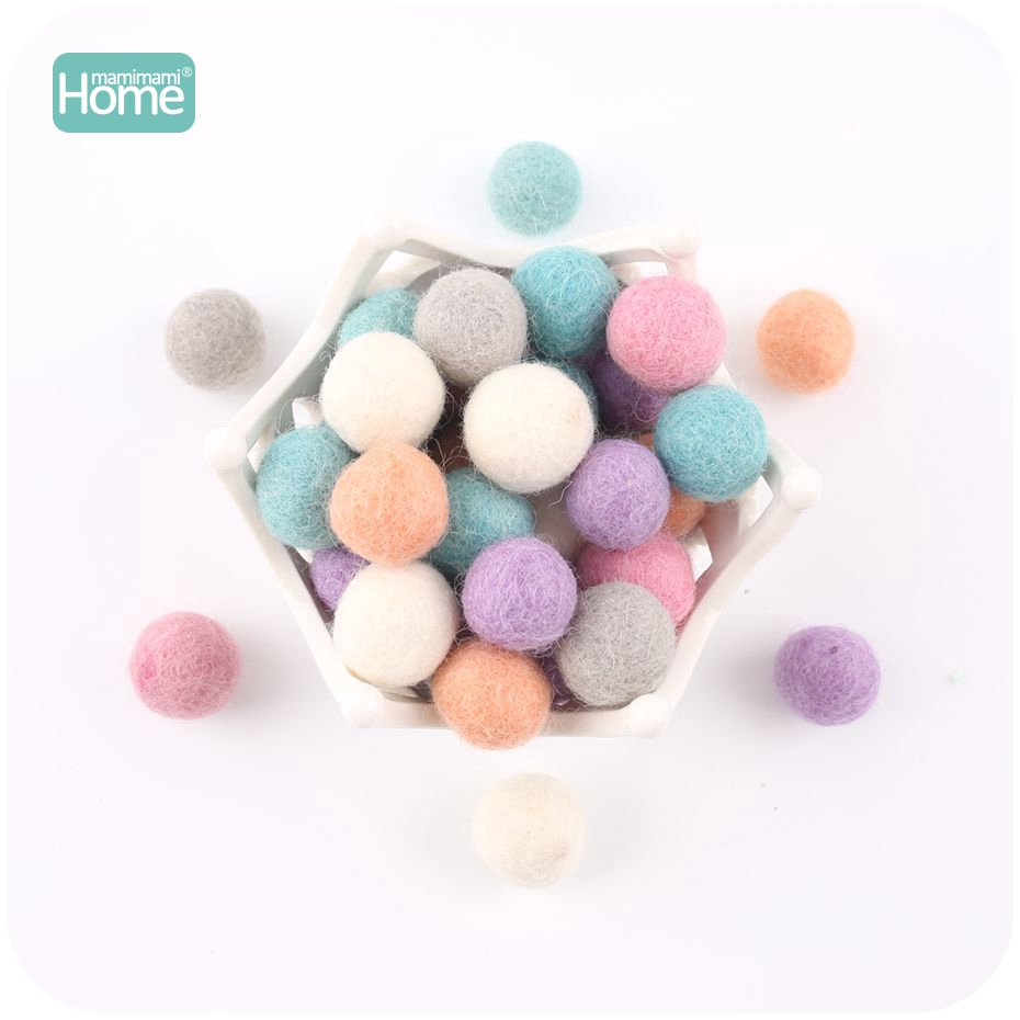 MamimamiHome 50Pcs Wool Felt Ball Color Ball High Quality Children's Toy Room Decoration Pendant Decoration Baby Accessories
