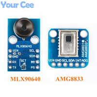 AMG8833 IR 8*8 MLX90640 32*24 Módulo de Sensor de temperatura de matriz de imágenes térmicas 8x8 32x24 Sensor de cámara infrarrojo