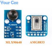 AMG8833 IR 8*8 MLX90640 32*24 kamera termowizyjna tablicy moduł czujnika temperatury 8x8 32x24 kamera na podczerwień czujnik