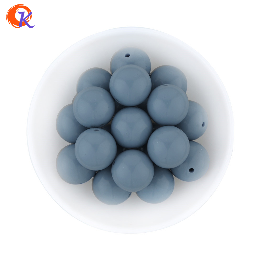 Beads & Jewelry Making Enthusiastic S72 20mm 100pcs New Winter Color Light Blue Grey Necklace Kit Bubblegum Acrylic Solid Beads For Jewelry Cdwb-701179