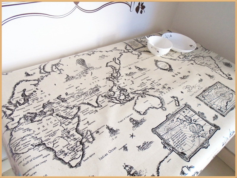Retro map Europe the United States wind PVC waterproof oil-proof tablecloths computer tables dormitory tablecloths